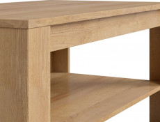 Modern 110cm Rectangular Coffee Table with Storage Shelf Living Room Furniture Riviera Oak Effect - Balder (D05032-LAW/5/11-DRI/DSO-KPL01)