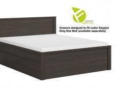 Modern Underbed Storage Drawer for King Size Bed Frame in Wenge Dark Wood Effect - Kaspian ( S128-SZU/160-WE/WE-KPL03)