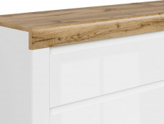 Scandinavian Bedside Cabinet Drawer White Oak Bedroom Storage - Holten