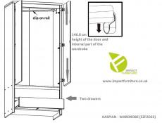 Modern Living Room Furniture Cabinet Set Oak finish - Kaspian