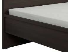 Modern King Size Bed Frame Dark Wood Wenge finish Solid Wood Slats  - Kaspian