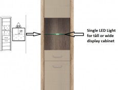 LED lighting for Tall or Wide Display Cabinet - Koen 2