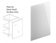 White Gloss End Panel Universal for Kitchen Cabinet Cupboard Base Unit - Roxi