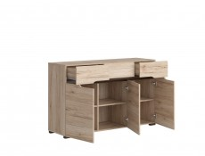 Large Sideboard Dresser Cabinet with Drawers Light Oak finish - Elpasso (S314-KOM3D3S-DSAJ/DWB-KPL02)