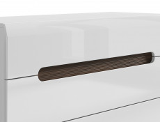 Wide Chest of Drawers White Gloss or Oak - Azteca (KOM4S/8/11)