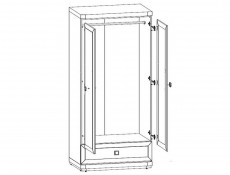 Two Door Wardrobe - Mezo