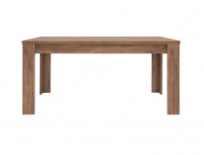 Modern Dining Room Furniture Set: Extending 160 - 240cm  Table and 4 Solid Wood Chairs Green/Oak Effect - Gent