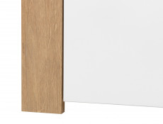 Modern Tall 1 Door Narrow Storage Cabinet Unit White Gloss Oak finish - Balder