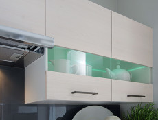 Modern Glass Shelf with Lights - Junona