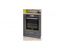 Free Standing White/Grey Gloss Kitchen Cabinet Oven Housing Unit 60cm - Modern Luxe