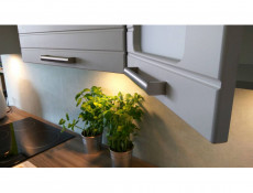 Free Standing Light Grey Kitchen Cabinets Cupboards Set 7 Units - Paula (STO-PAULA_SET-7UNITS_1.8/2.4-GR/MOCHA/DOVE)