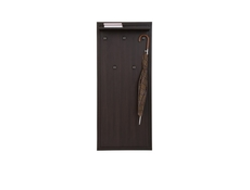 Modern Wall Mounted Coat Hooks Panel Hallway Entrance Wenge - Kaspian (S128-WIE/60-WE-KPL01)