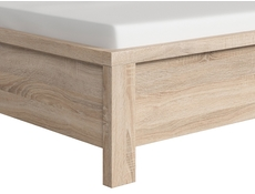 King Size Bed Frame Oak finish - Kaspian (LOZ160)