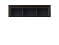 Modern Wall Glass Cabinet Wenge Dark Wood - Kaspian