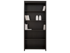 Modern Bookcase Shelf Cabinet Wenge Brown - Kaspian