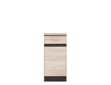 Modern Free Standing Kitchen Cabinet Cupboard Base Unit 40cm  Right - Junona (K22-D1D/40/82_P-WE/DSO/DSO-KPL01)
