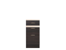 Modern Free Standing Kitchen Cabinet Cupboard Base 3-Drawer Unit 40cm - Junona (K22-D3S/40/82-WE/DSO/DSO-KPL01)