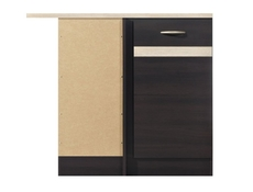 Modern Free Standing Kitchen Cabinet Corner Base Unit 100cm Left - Junona (K22-DNW/100/82_L-WE/DSO/DSO-KPL01)