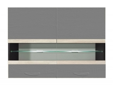 Modern Glass Shelf with Lights - Junona  (for wall unit G2W/80/57)