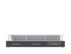 TV Stand Cabinet in White High Gloss or Grey Gloss - Avila (RTV3S/4/18)