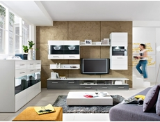 TV Stand Cabinet in White High Gloss or Grey Gloss - Avila