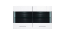 Avila - Wall Mounted Glass-Fronted Cabinet in White High Gloss (SFW2W/7/12)