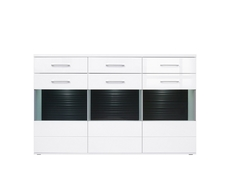 Avila - Wide Sideboard Dresser Display Cabinet  White High Gloss (KOM3W3S/14/18)