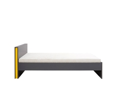 Modern Single Bed Frame in Grey for Kids Youth Room - Graphic