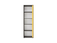 Bookcase Shelf Cube Cabinet Grey Left - Graphic (S343-REG/57L-SZW)