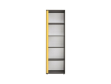 Bookcase Shelf Cube Cabinet Right Grey - Graphic