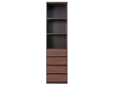 July - Bookcase Shelf Cabinet With Drawers (REG4S)