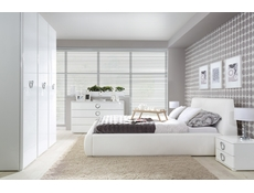 Tall Chest of Drawers White Gloss Bedroom - Roksana (L20-KOM6S/12/6-BIPL/BI-KPL01)