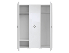 Roksana - Three Door Wardrobe White Gloss