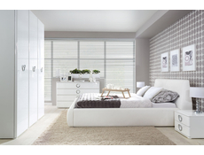 Modern Triple Bedroom Three Door Wardrobe Storage Unit Soft Closing White/White Gloss - Roksana
