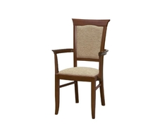 Dining Chair with Armrests in Chestnut - Kent (EKRSP)