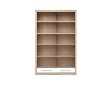 Bookcase Shelf Cabinet With Drawers - Bigi (REG2S/124/197)