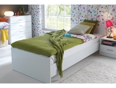 Children's Single Bed frame White Oak or Dark wood tone - Nepo