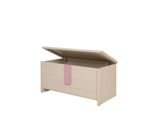 Caps - Trunk Storage Toy Chest Oak with Pink, Blue or Grey