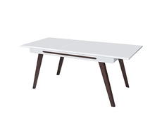 Modern Extending Dining Table White Gloss - Azteca (Ultra)