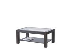 Coffee Table Rectangular Design with Glass Top Oak finish - Rumbi
