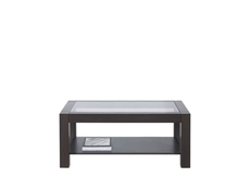 Coffee Table Rectangular Design with Glass Top Oak finish - Rumbi (RUMBI 106)