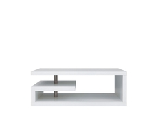 Modern Coffee Table with Shelf Rectangular Design White or Oak or Wenge - GLIMP (D05001-LAW/120-BI)