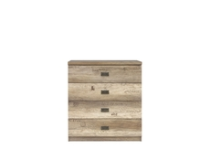 Urban Wide Bedroom Chest of Drawers Storage Unit 4-Drawer 80cm Oak - Malcolm