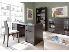 Office Study Furniture Desk Set 2 Brown - Kaspian