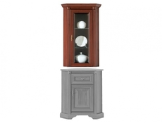 Stylius - Corner Glass-Fronted Dresser Display Cabinet Top Unit