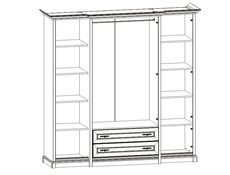 Four Door Wardrobe - Kent (ESZF 4D2S)