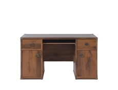 Home Office Desk with Drawers White Wash Pine Shabby Chic or Oak finish - Indiana (S31-JBIU2d2s-SOC-KPL01)