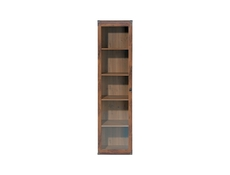 Tall Glass Display Cabinet - Indiana (JWIT1D)