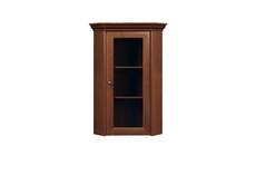 Corner Glass Dresser Cabinet Top Unit - Kent