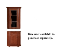 Kent - Corner Glass-Fronted Dresser Cabinet Top Unit (ENAD 1WN)